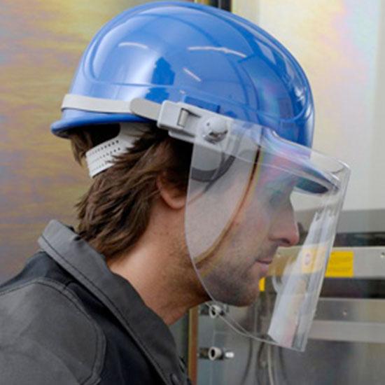 Kopfbedeckung Helm Gesichtschutz